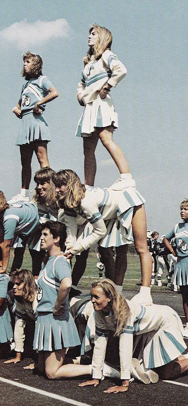 Guilford Cheerleaders 1986 | by bluwmongoose