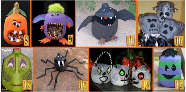 15 Easy Halloween Milk Jug Craft Projects | ThePartyAnimal-Blog