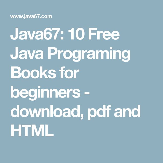 Java67 10 Free Java Programing Books For Beginners Download Pdf