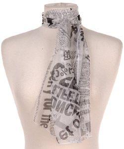Dolce & Gabbana Newspaper Print Silk Scarf