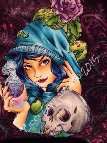 Colouring ciccividpennan.blogspot.com Halloween copic markers