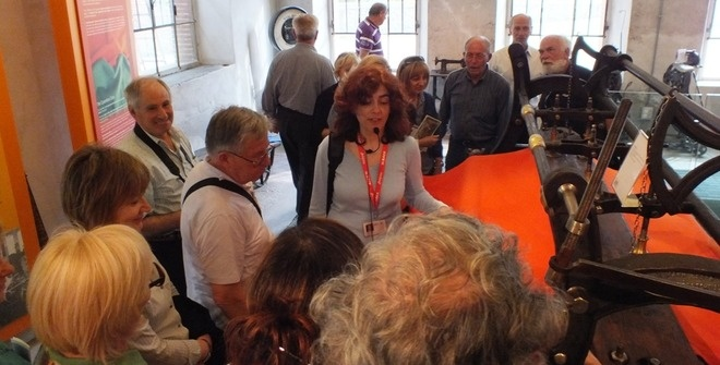 Guided tour of the Wool Museum in Stia - Casentino valley to a group from Rome. Learn how the famous Casentino Cloth is made with a local guide