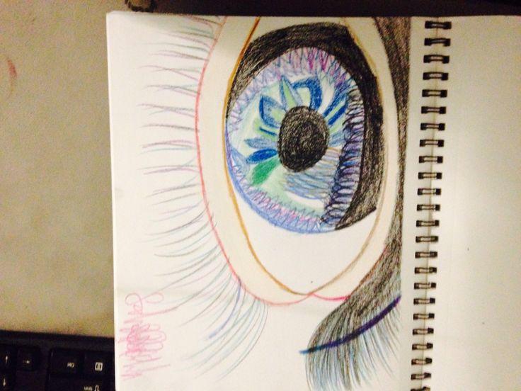 crayon eye