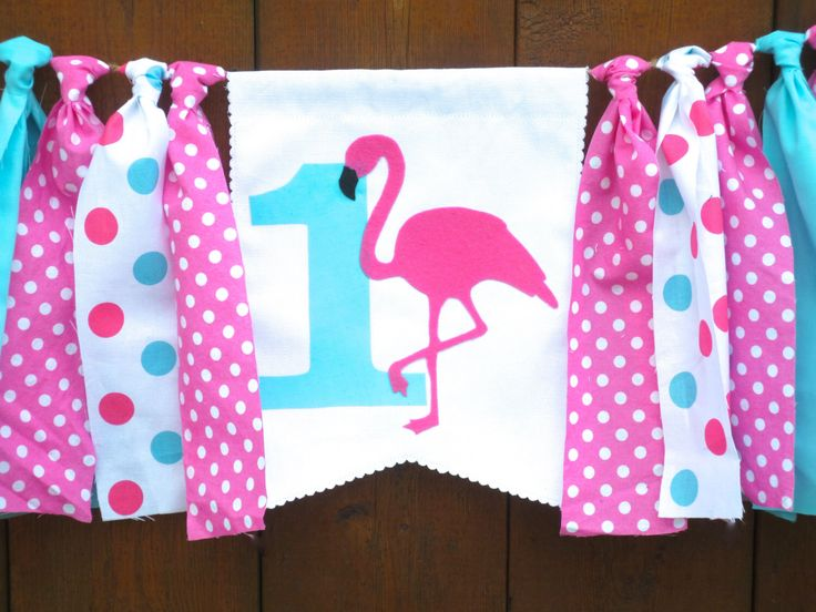 FLAMINGO Birthday Banner Highchair High Chair Pink Aqua First One Garland Spring Summer Luau Pool Party Polka Dot Cake Smash Photo Prop by SeacliffeCottage on Etsy https://www.etsy.com/listing/266405801/flamingo-birthday-banner-highchair-high