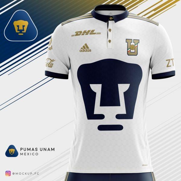 163fa6168 Pumas UNAM x Adidas - Away Kit | Pumas UNAM | Pumas, Football kits ...