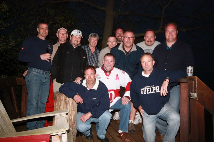 Some old guys at a 50th birthday party in Grand Bend.