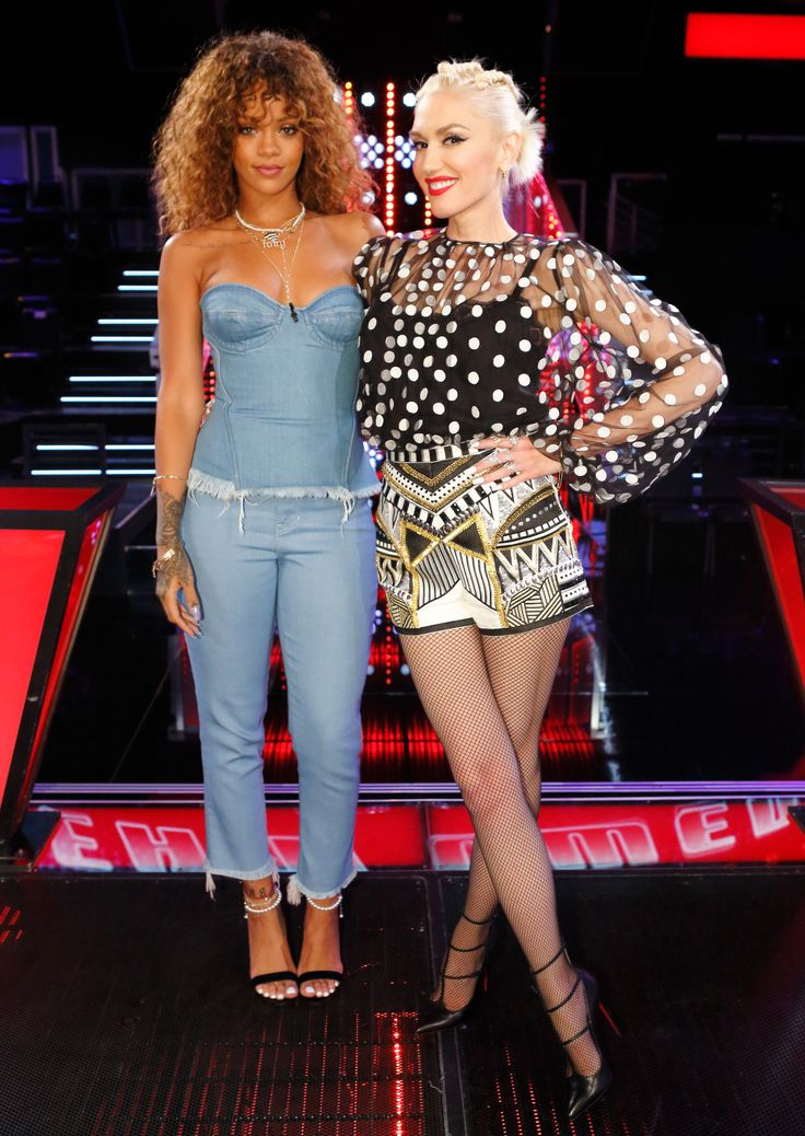 Gwen Stefani's Best Fashion Moments from Season 9 of The Voice - ROCK AND ROLL DIVAS - from InStyle.com