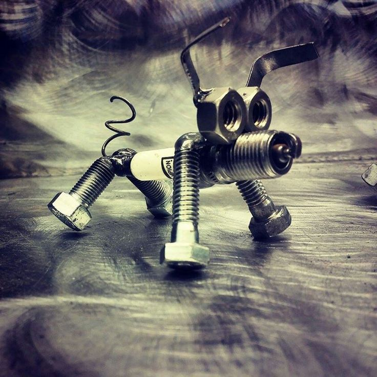 Spark Plug Puppy made by Custom Metal Creations by Kevin Dickey.