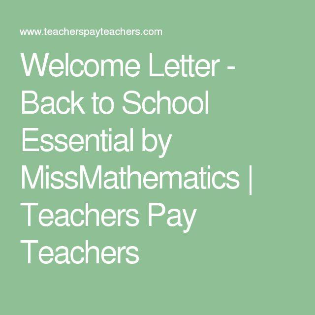 The  Best Kindergarten Welcome Letter Ideas On