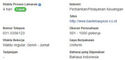 Lowongan Kerja Palembang Januari 2017 PT Bank Maspion Indonesia Tbk