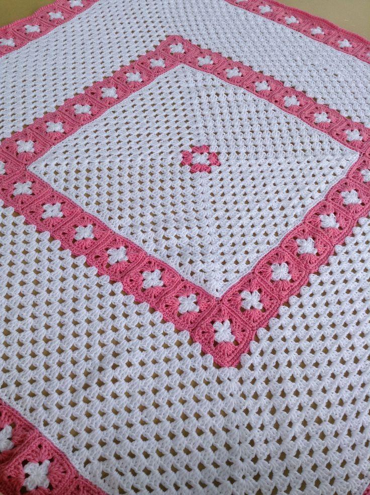 Vintage Granny Square Layette Crochet Pattern