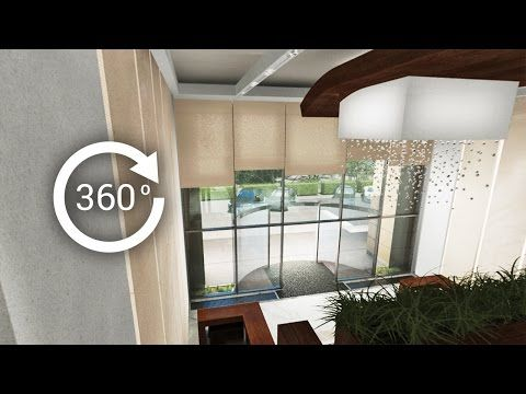 360° - 3D render   Интерьер   Апарт-отель   Вестибюль, лобби. Вид 3 - YouTube