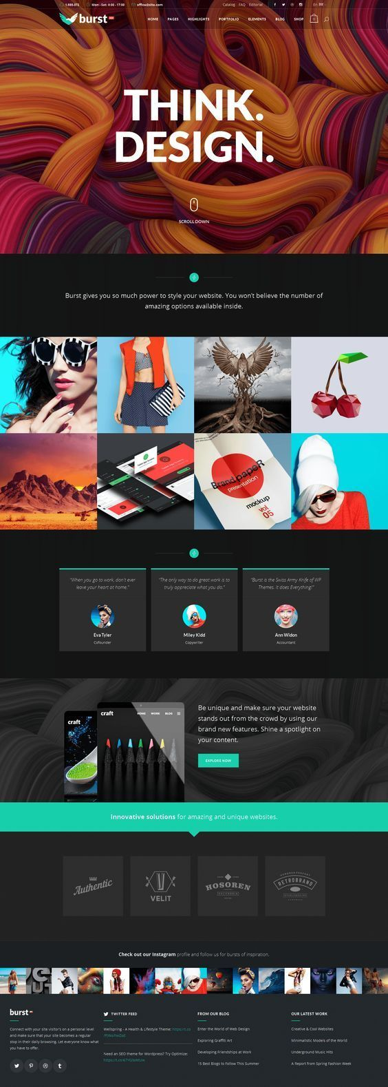 Best Best Portfolio Websites Ideas Only On Pinterest One