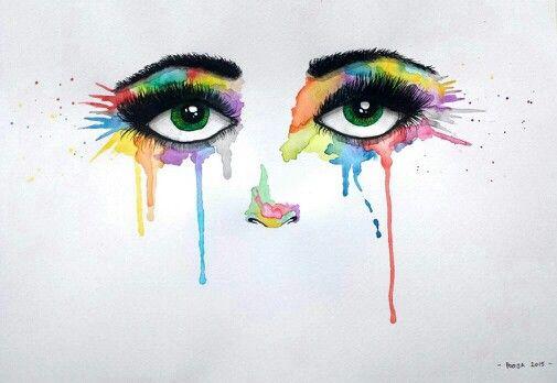 Weeping rainbows, watercolour
