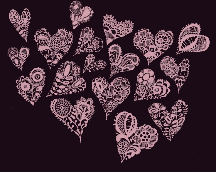 ~ Pink Lace Hearts ~