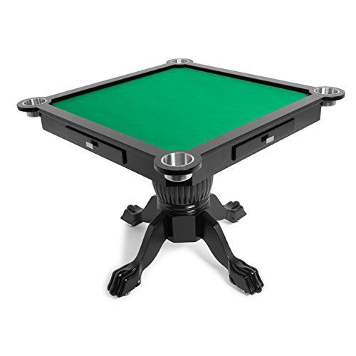 Conveniently and comfortably sized for 4 players, the Levity game and poker table from BBO Poker is perfect for board games, dominoes, mahjong, four-handed card games, and more. With four drawers for convenient game piece storage, the Levity also features four 4-inch stainless steel cup holders... more details available at https://furniture.bestselleroutlets.com/game-recreation-room-furniture/game-tables/product-review-for-bbo-poker-levity-game-and-poker-table-for-4-players-w