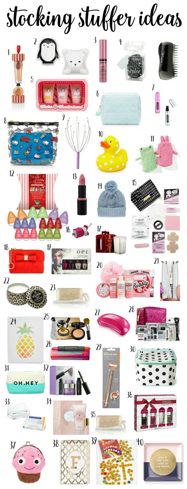 The best Christmas stocking stuffer ideas for women! Click through to see the ultimate christmas gift guide for women feature the best stocking stuffers and stocking fillers by blogger Ashley Brooke Nicholas via @ashleynicholas