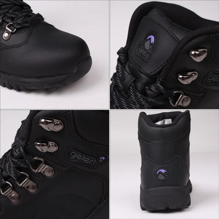 Leather Ladies Walking Boots   Leather