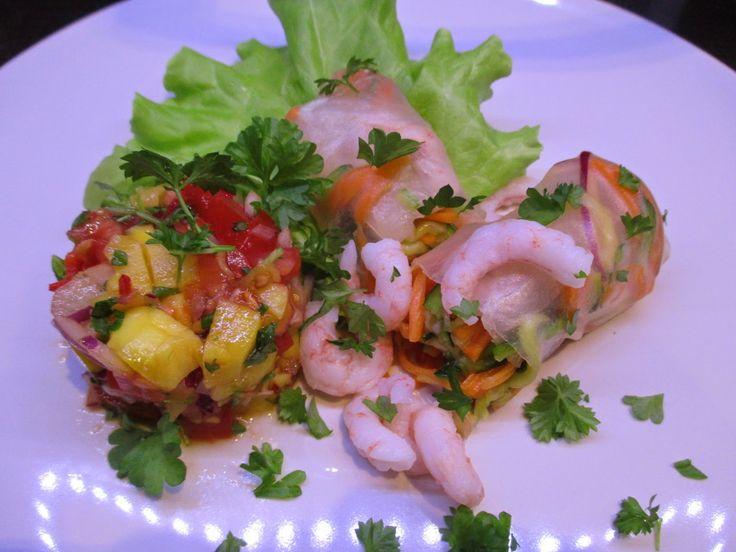 Tinskun keittiössä: Vietnamilaiset kevätkääryleet ja mangosalsaa