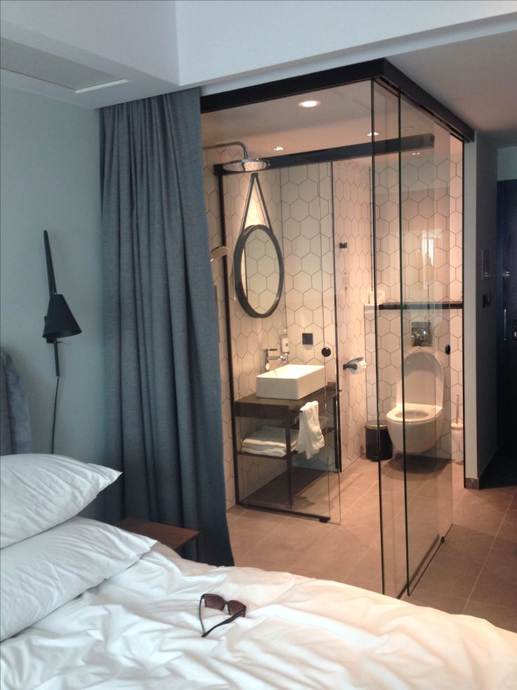 Puro Hotel Poznan · Compact BathroomAttic BathroomBathroom IdeasHotel  BathroomsEnsuite BathroomsBoutique ...