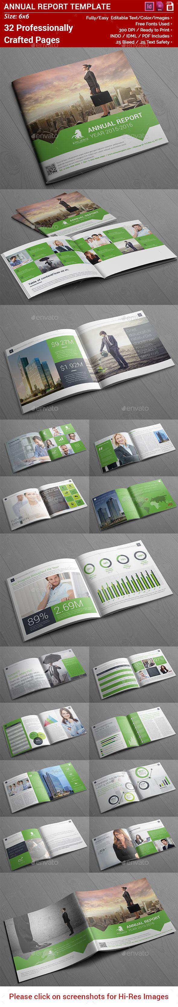 Square Annual Report Template InDesign INDD #design Download: http://graphicriver.net/item/square-annual-report/14312367?ref=ksioks