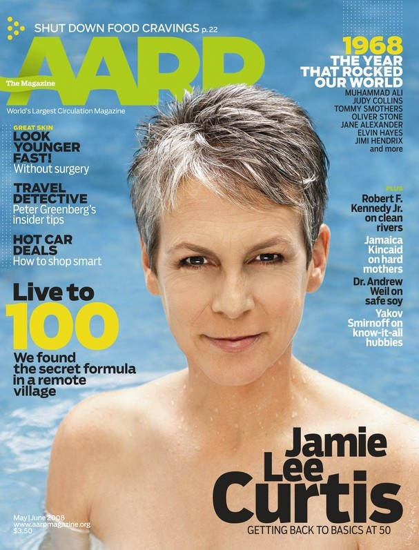 Jamie Lee Curtis - un-Photoshopped, at her request