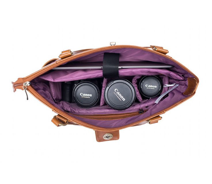 Kelly Moore Esther Caramel | Modische Kameratasche - DSLR Fototasche | Laptop Tasche für Frauen | bei PhotoQueen