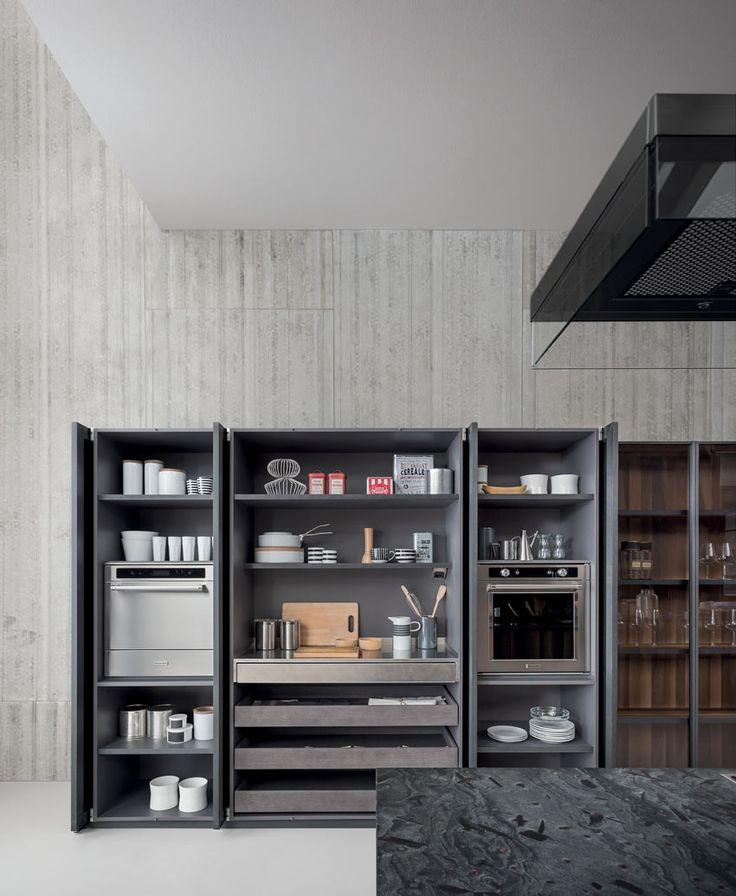 133 Besten Küche Bilder Auf Pinterest Modern, Moderne Küchen Und   Tuersysteme  Kuechenoberschraenke Platzsparend