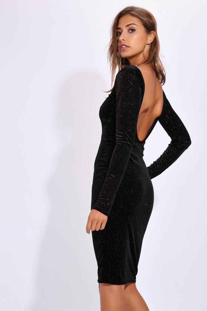 d1888b816ff9 Black Midi Dress Low Back – Little Black Dress | Black Lace ...
