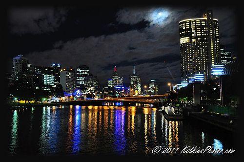 Melbourne City night scene