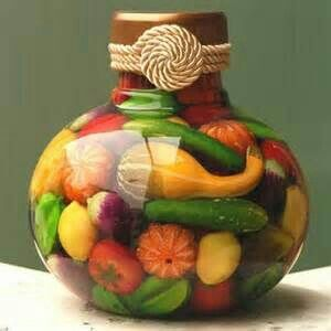 Decorative Vegetable Jars 15 Best Decorative Fruitvegetable Bottles Images On Pinterest