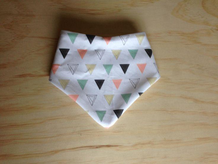 Multi Triangles Bandana Dribble Bib by HarlzandHaven on Etsy https://www.etsy.com/listing/216705472/multi-triangles-bandana-dribble-bib