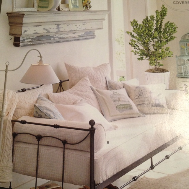 Pottery barn. Savannah daybed (trundle available) and