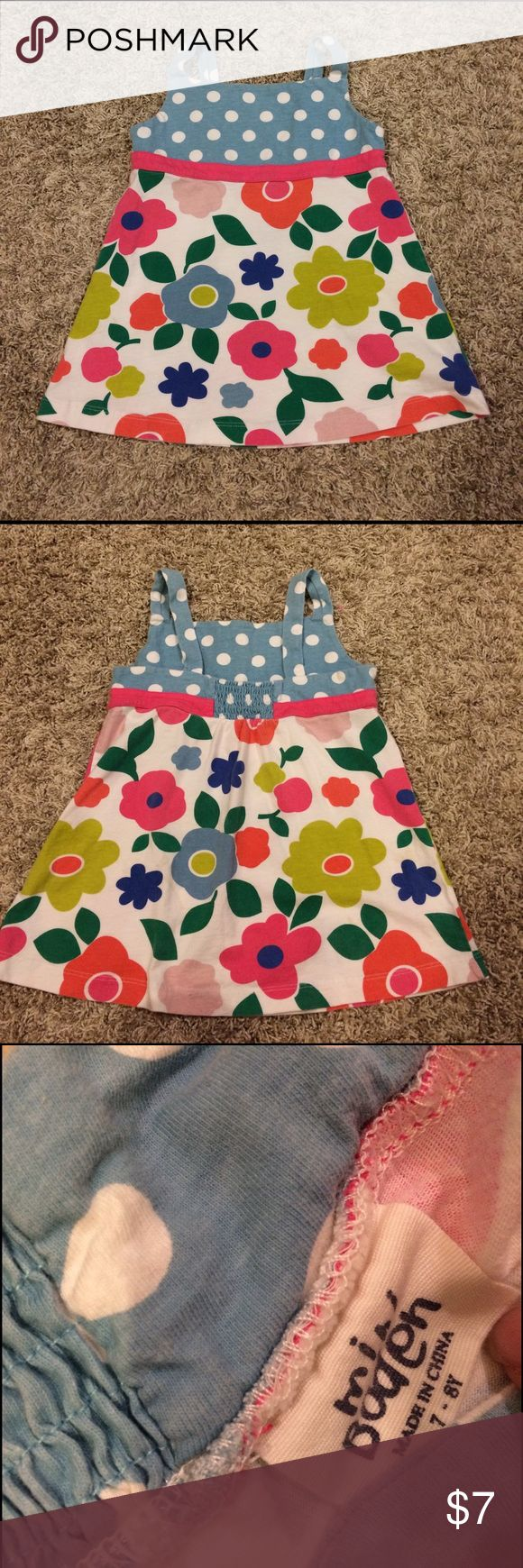 Mini Boden girls Floral tank size 7-8 Mini Boden girls Floral tank size 7-8.  Perfect used condition Mini Boden Shirts & Tops Tank Tops