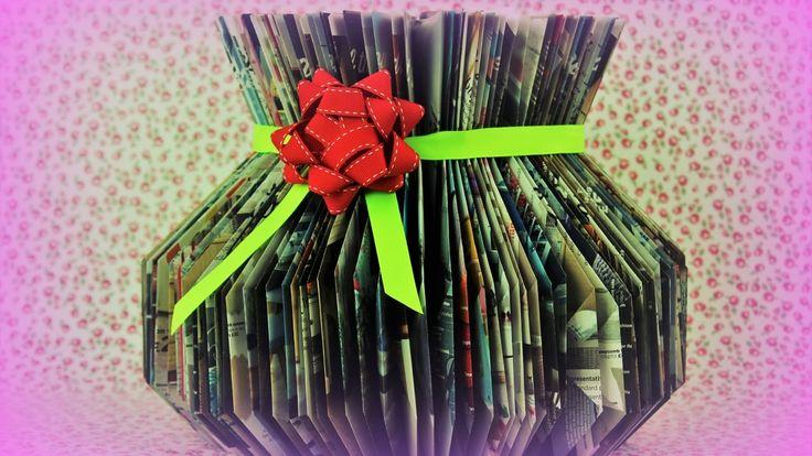 Paper folding Vase - Book / magazine folding - Fast & Easy Tutorial - DIY