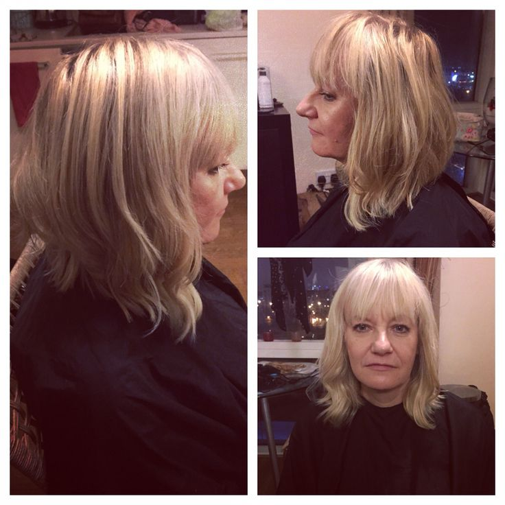Balmain Hair Extensions Used Just In The Front To Create A Long Graduated Fern Cotton Bob For Clients Who Cant Grow Their Too Or