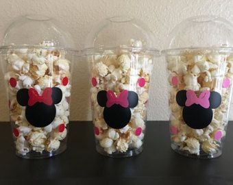 Minnie Mouse Party Cups Minnie Mouse Birthday by DivineGlitters
