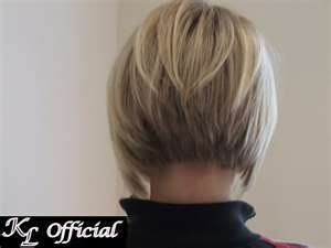 Angled Bob Haircut Back View |  This is what my hair should look like and it doesn't. Cant wait till it grows out so I can get it like this.