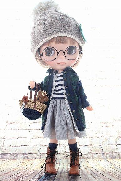 ◆Blythe Outfit◆ブライス♪シャツワンピ9点セット♪NO.41_ブライス本体・眼鏡は付属しません。