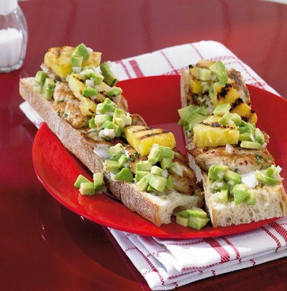 Ananas-Puten-Crostini