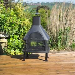 Kingfisher Log Burner Chiminea BBQ - 109cm Height on sale | free uk delivery