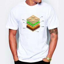 Más nuevo inconformista hombres de moda del lego hamburguesa camiseta impresa camiseta divertida ponen en cortocircuito las camisetas de la novedad del o-cuello popular sport tops(China (Mainland))
