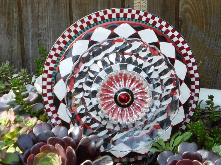 Plate Flower 534 Drought Resistant Garden Yard Art Glass