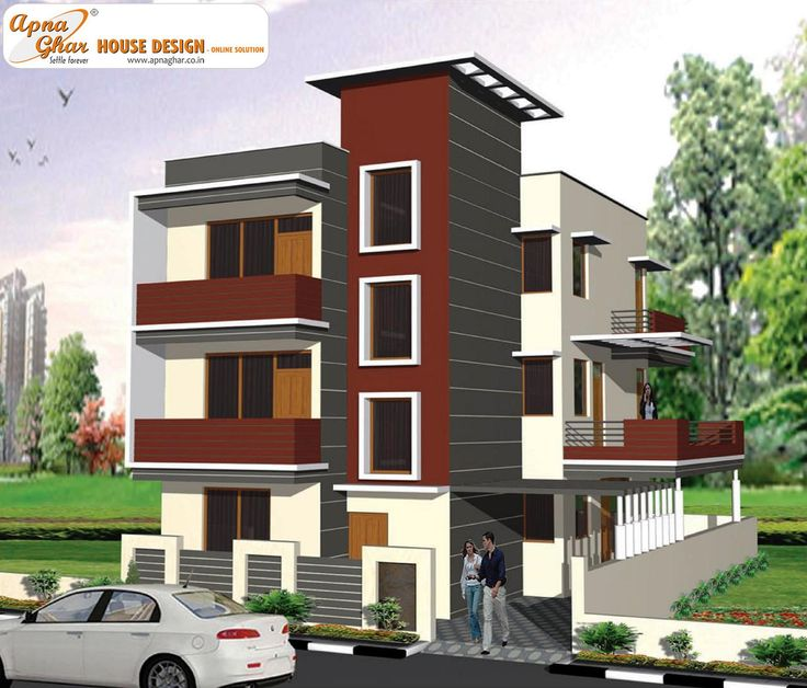 Front Elevation Designs For 4 Floors Building : Images about triplex house design on pinterest