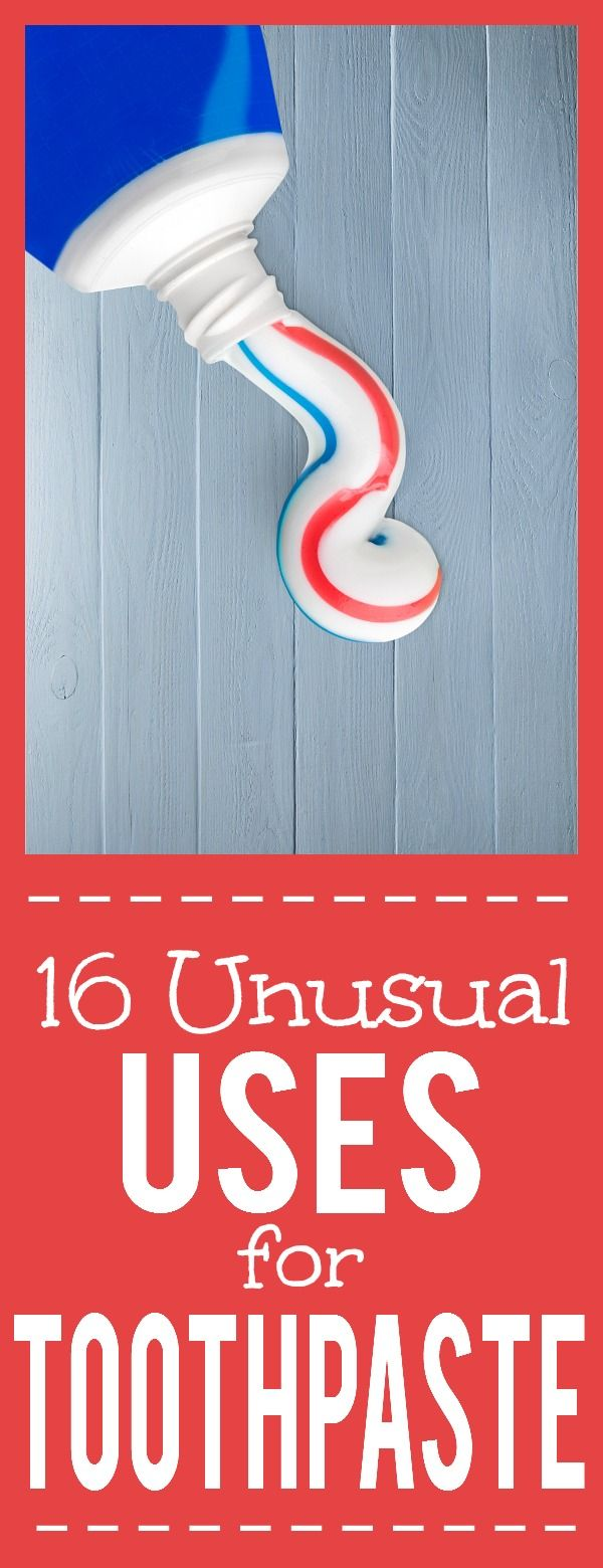 16 Unusual Uses for Toothpaste - Toothpaste isn't just for your mouth! Try these 16 amazing and unusual Uses for Toothpaste around your home to see how useful and effective it really is! Cleaning tips and hacks, around the home, and even beauty fixes, toothpaste does it all!