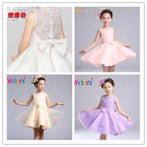 Шесть детей Принцесса платье производительность одежда девушки платье юбка свадебное платье юбка цветок девушка платье женщины летнее платье