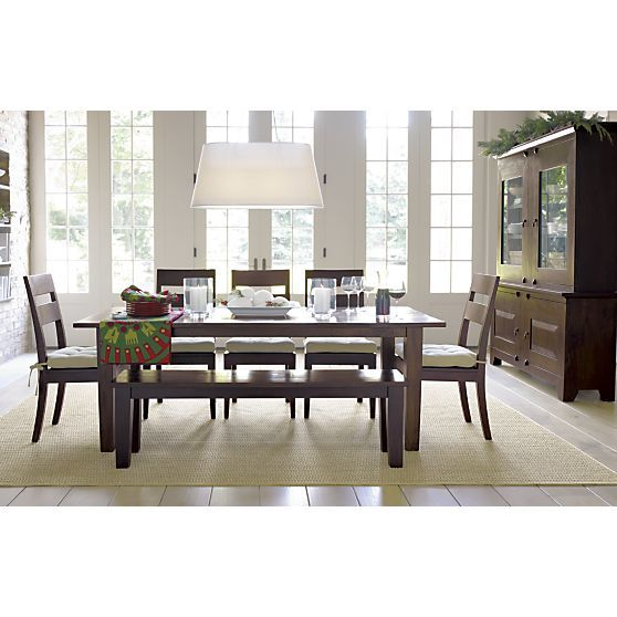 Basque Java 82 Dining Table Crate And Barrel Chairs