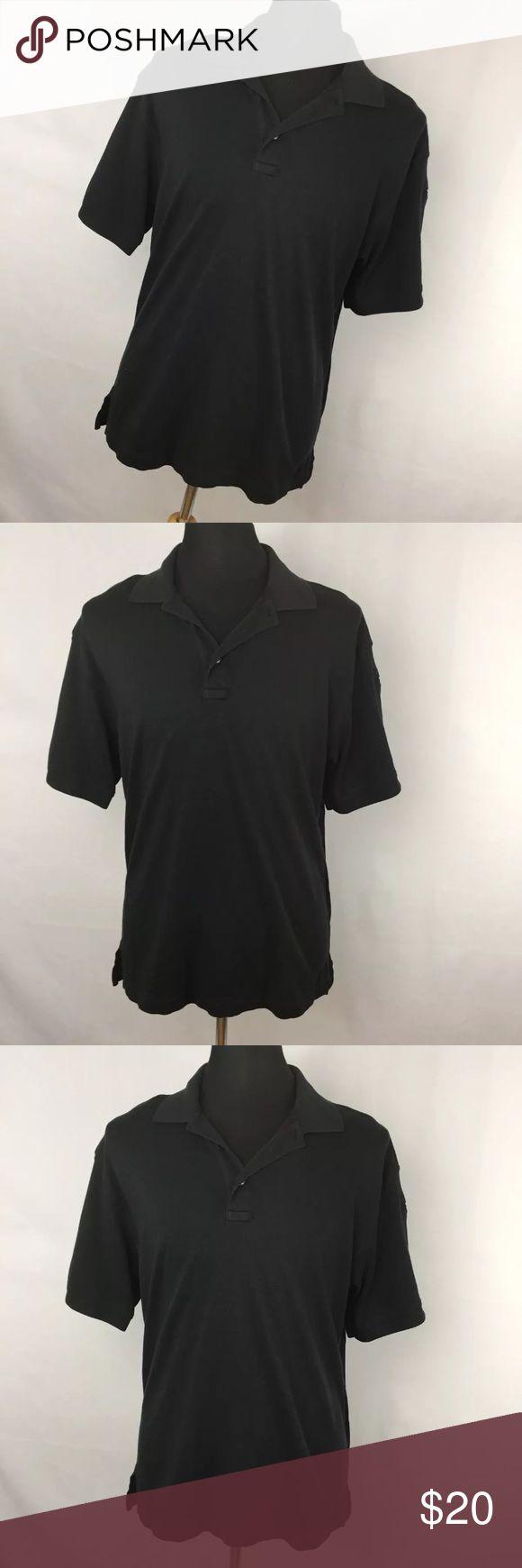 "5.11 Tactical Series L Polo Shirt Black Short Slv 5.11 Tactical Series L Large Polo Shirt Black Short Sleeve Pocket Classic. Excellent condition. Smoke free home.  Chest measurement - 48"" Length measurement - 30"" 5.11 Tactical Shirts Polos"
