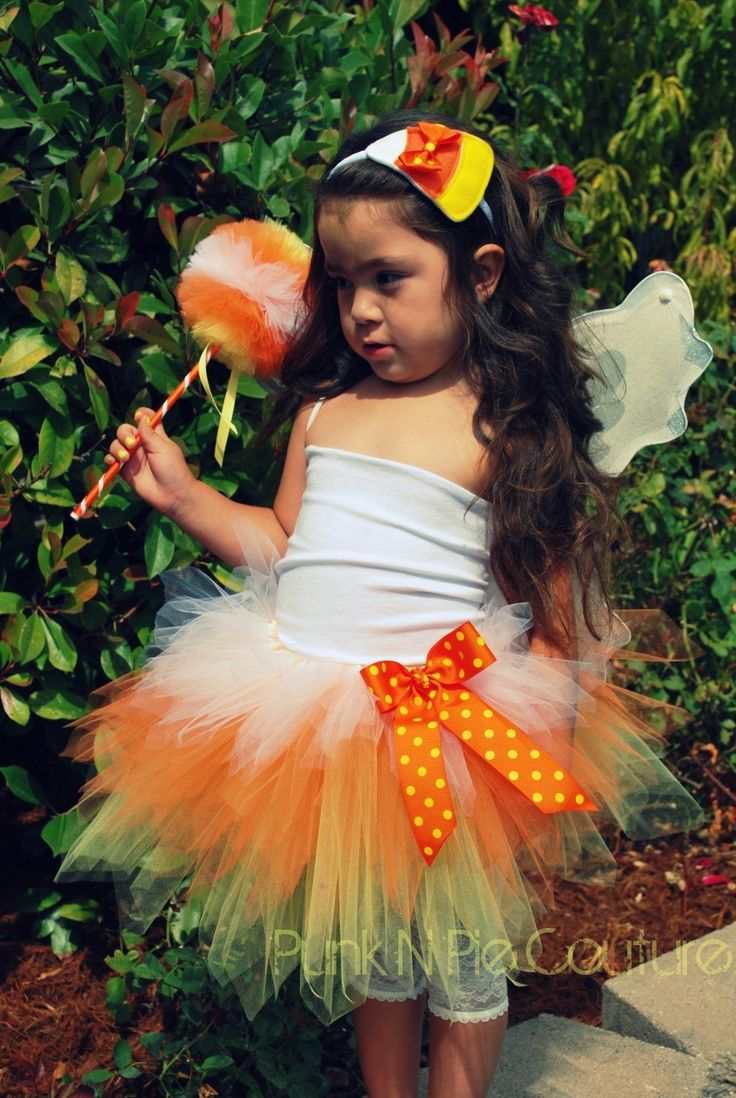 Candy Corn Fairy Tutu Halloween Costume - 2014 Halloween For Kids 2014 -7761