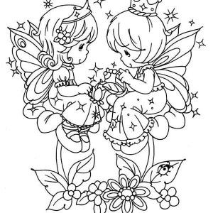 Lucky To Have You Precious Moments Coloring Page Kids